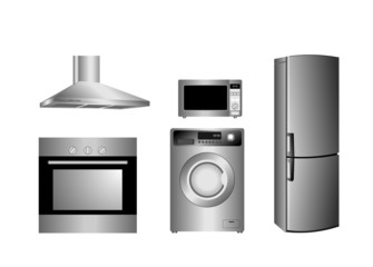 detailed household appliances icons