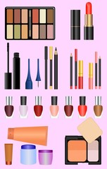 Professional make up set