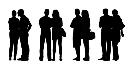 people standing outdoor silhouettes set 29