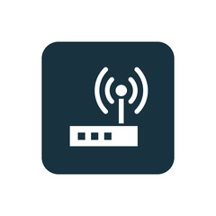 modem icon Rounded squares button