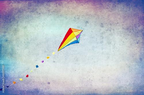 Leinwanddruck Bild Kolorowy latawiec