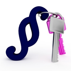 Key with paragraph symbol