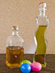 Uova colorate e liquori