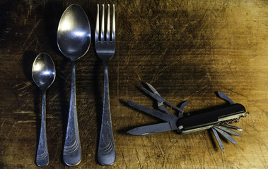 Pocket knife and cutlery