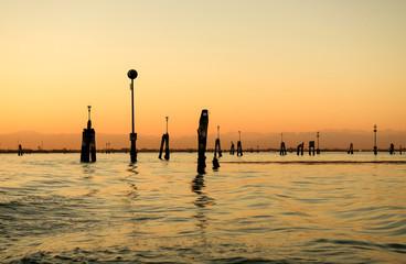 View of Venice lagoon