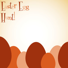 Overlay Easter egg card in vector format.