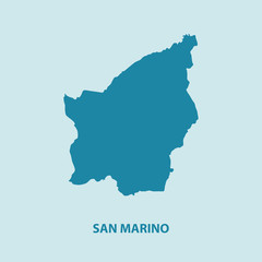 San Marino Map Vector Very Detailed