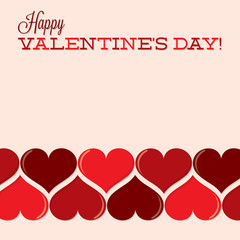 Valentine's Day heart line card in vector format.