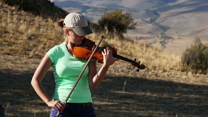 Violinist,  Young Woman playing the violin