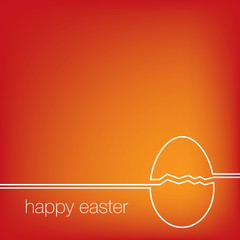 Continuous line Easter egg card in vector format.