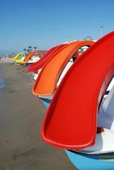 Hidropedales en la playa