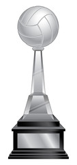 Volleyball Trophy - Black Base