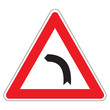 Dangerous bend to the left