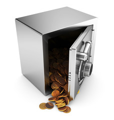 safe with coins