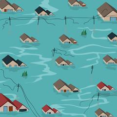 Humanitarian Aid flood illustration