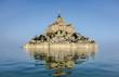 Leinwanddruck Bild - le mont saint michel à marée haute