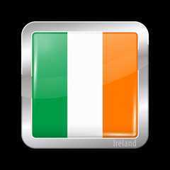 Flag of Ireland. Metal Icons