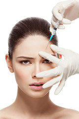 Girl gets injectio