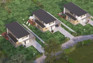 Luftbild Einfamilienhäuser