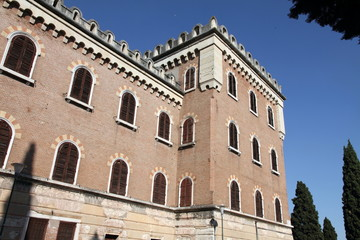 Italy, Veneto, Verona, Castel San Pietro, exterior view