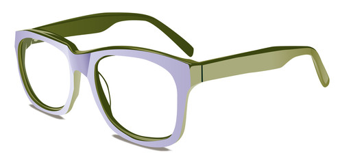 occhiali bicolore con  tinte moda