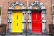 Leinwanddruck Bild - Georgian Doors, Ireland