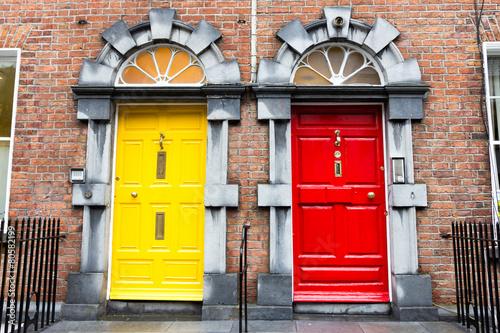 Fotobehang Noord Europa Georgian Doors, Ireland