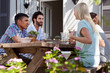 outdoor dinner party - 80582597