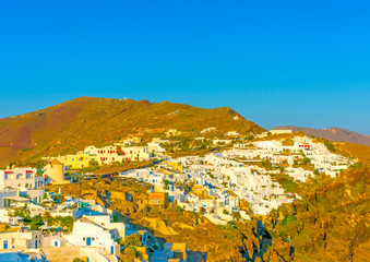 Oia is the most beautiful village of Santorini island in Greece