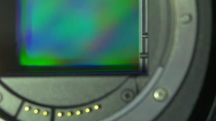 The digital camera sensor spin (round) motion
