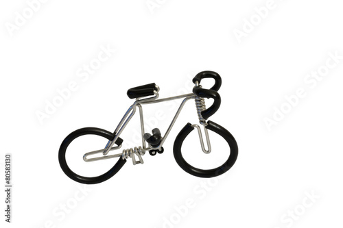 Aluminium Fiets bicycle model toy wire isolated on white background