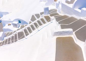 Beautiful steps in Oia at Santorini island in Greece