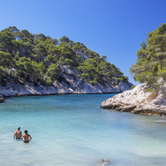 The famous Calanques national park of Cassis