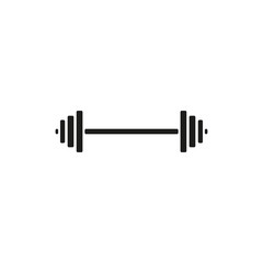 The dumbbell icon. Bodybuilding symbol. Flat