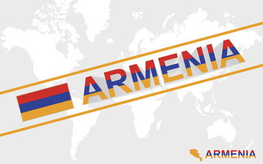 Armenia map flag and text illustration