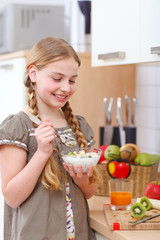 girl in kitchen