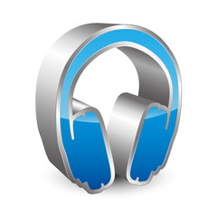 Headphones 3D icon