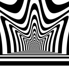 Concentric abstract symbol, crown  - visual illusion