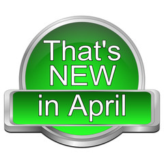 That's new in April Button