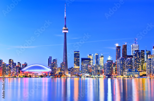 Foto op Canvas Canada Panorama of Toronto skyline in Ontario, Canada.