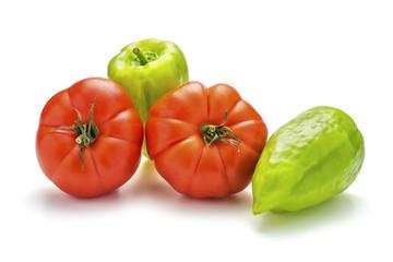 Tomaten und Paprika