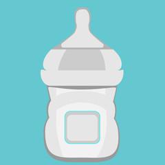 Baby milk in bottle. Vector EPS