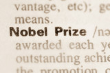 Dictionary definition of word Nobel Prize poster