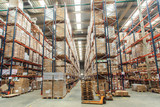 warehouse shelves with goods - 80589795