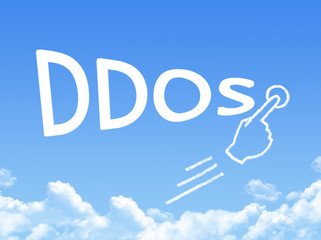 ddos attack message cloud shape