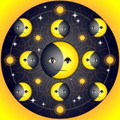 Cosmic Emotions: Smile & Sadness