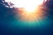 Sea with sun