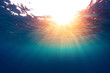 Leinwanddruck Bild - Sea with sun