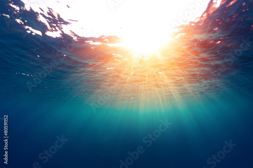 Foto op Aluminium Strand Sea with sun