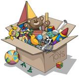 Fototapety Old toy box